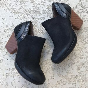 DANSKO Black Marcia Comfort Ankle Heel Booties 7